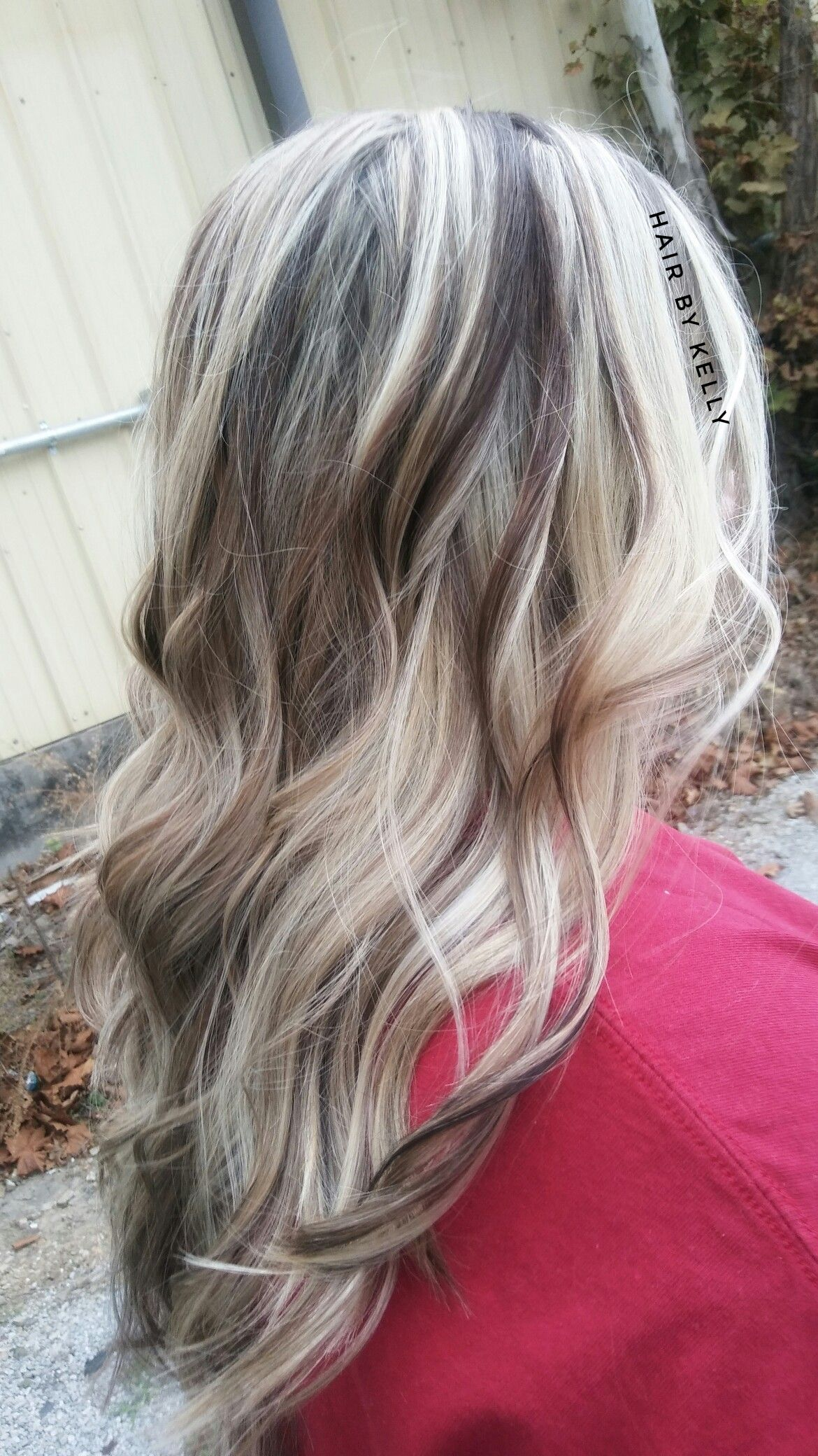 Platinum Blonde With Chunky Chocolate Lowlights By Kelly S With