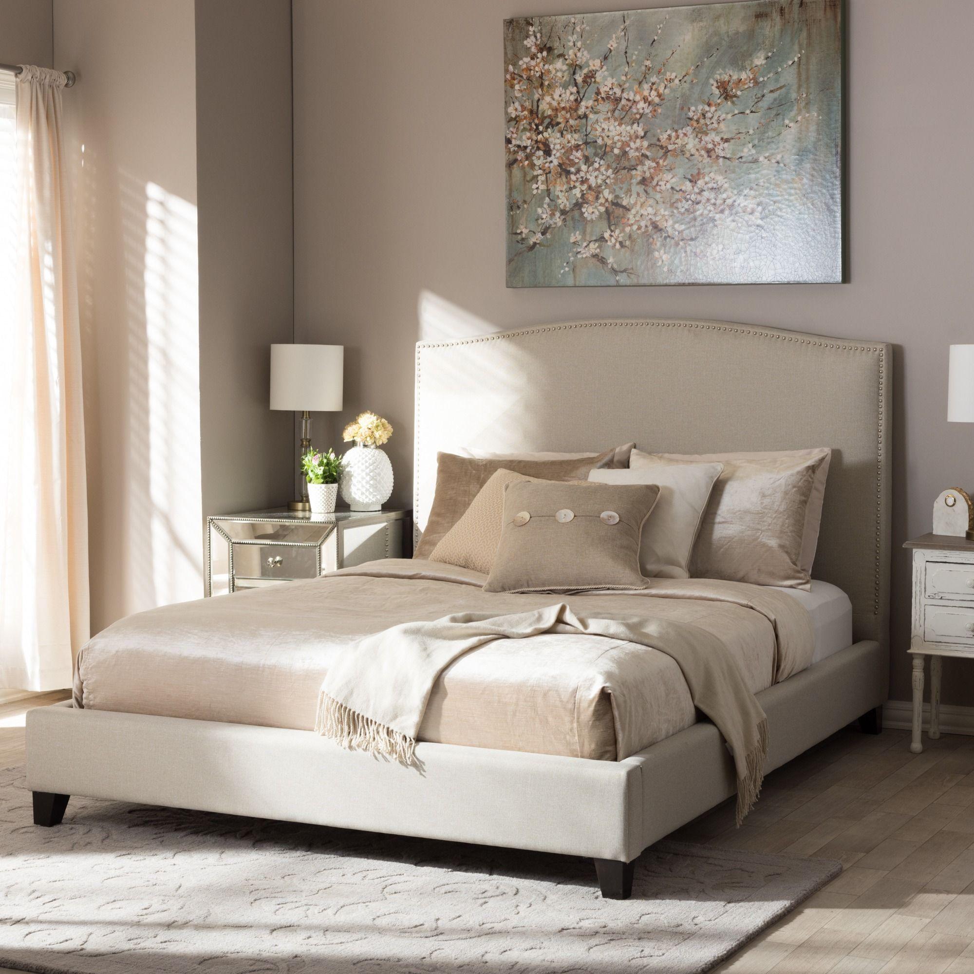 Baxton studio aisling light beige modern platform bed modern