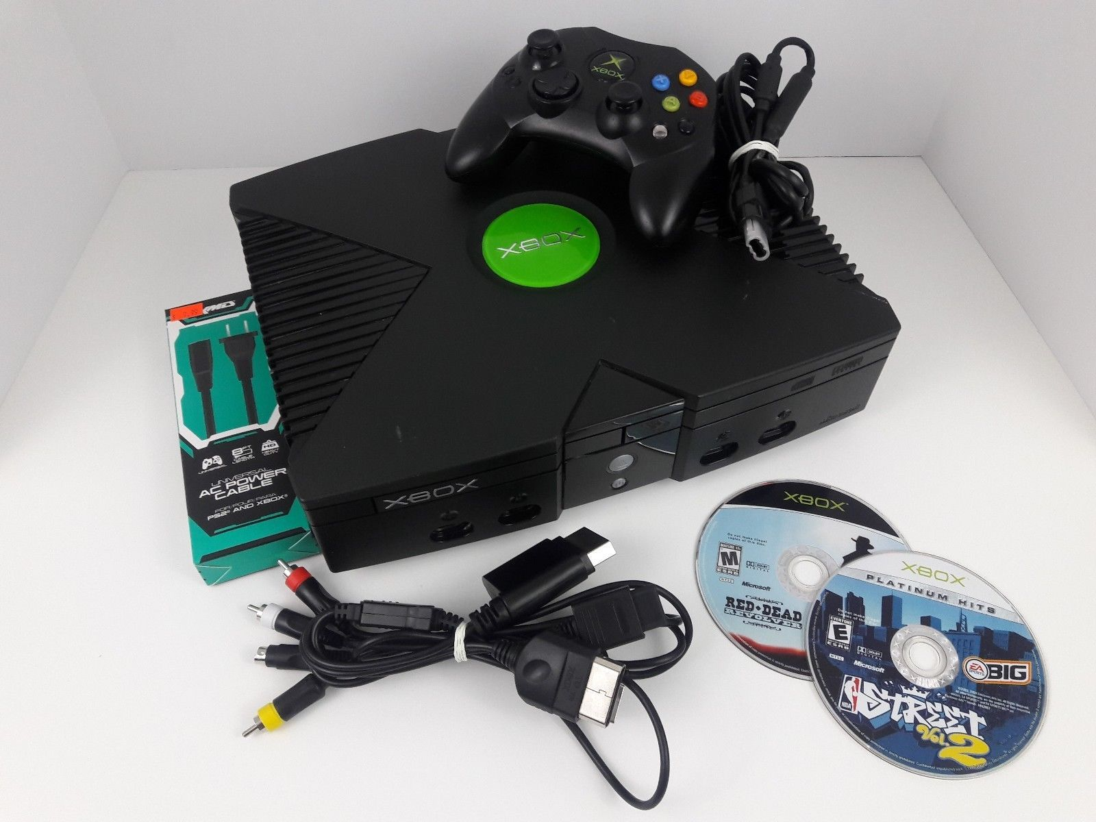 ORIGINAL MICROSOFT XBOX AC Adapter Wired Xbox Controller Red Dead ...