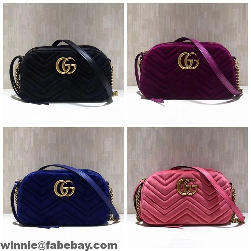 9c88d23c145 Gucci GG Marmont Velvet Small Camera Shoulder Bag 447632 2017 ...