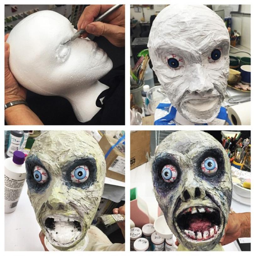 Decapitation Severed Zombie Head Cut Halloween Costume Makeup Latex Prosthetic