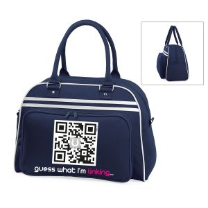 U-bowling bag with editable QR code. Share your ideas on your bag! :)