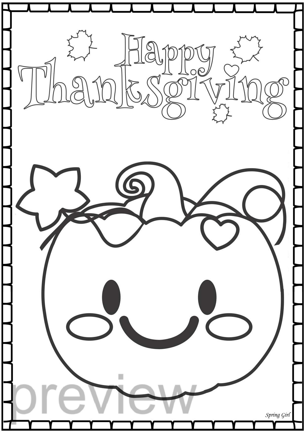 40 FREE Thanksgiving Coloring Pages for Adults & Kids - Edventures ... | 1755x1240