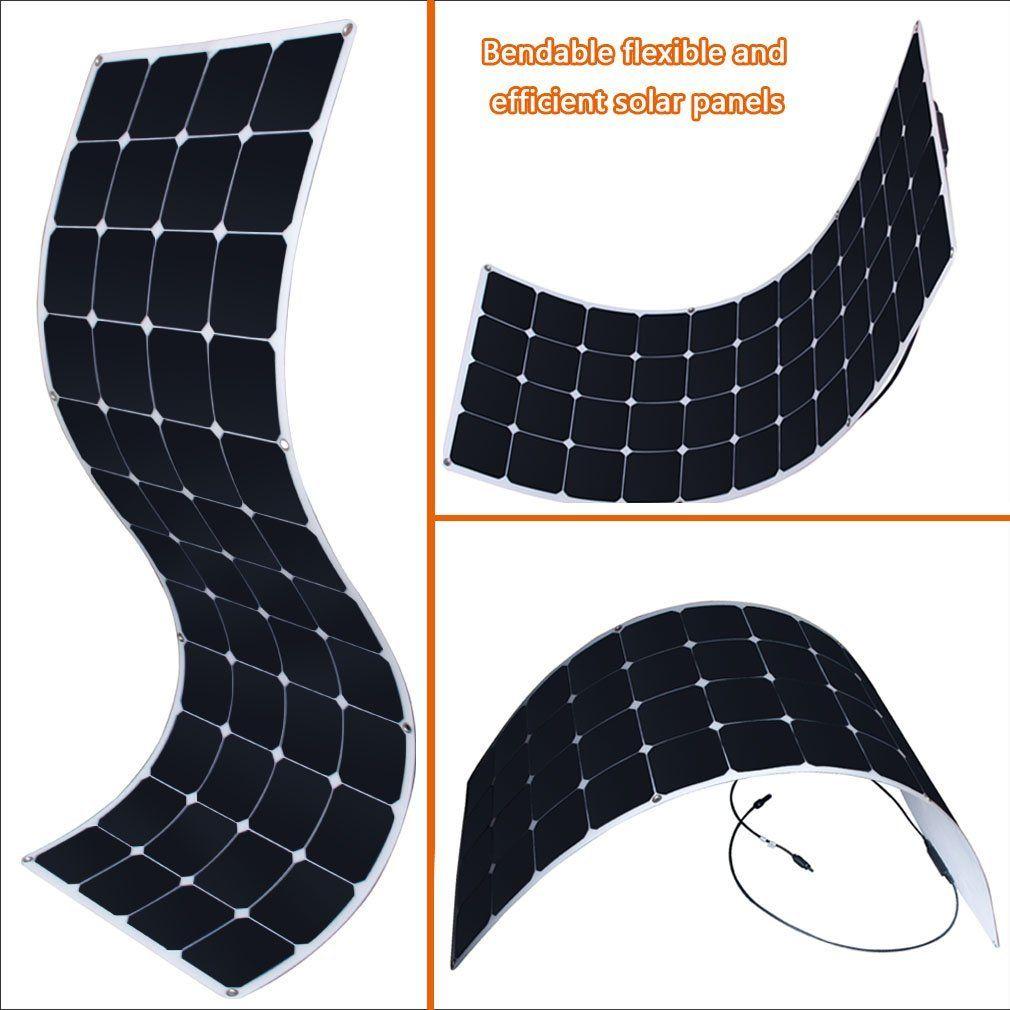 Robot Check Solar Teardrop Camping Flexible Solar Panels