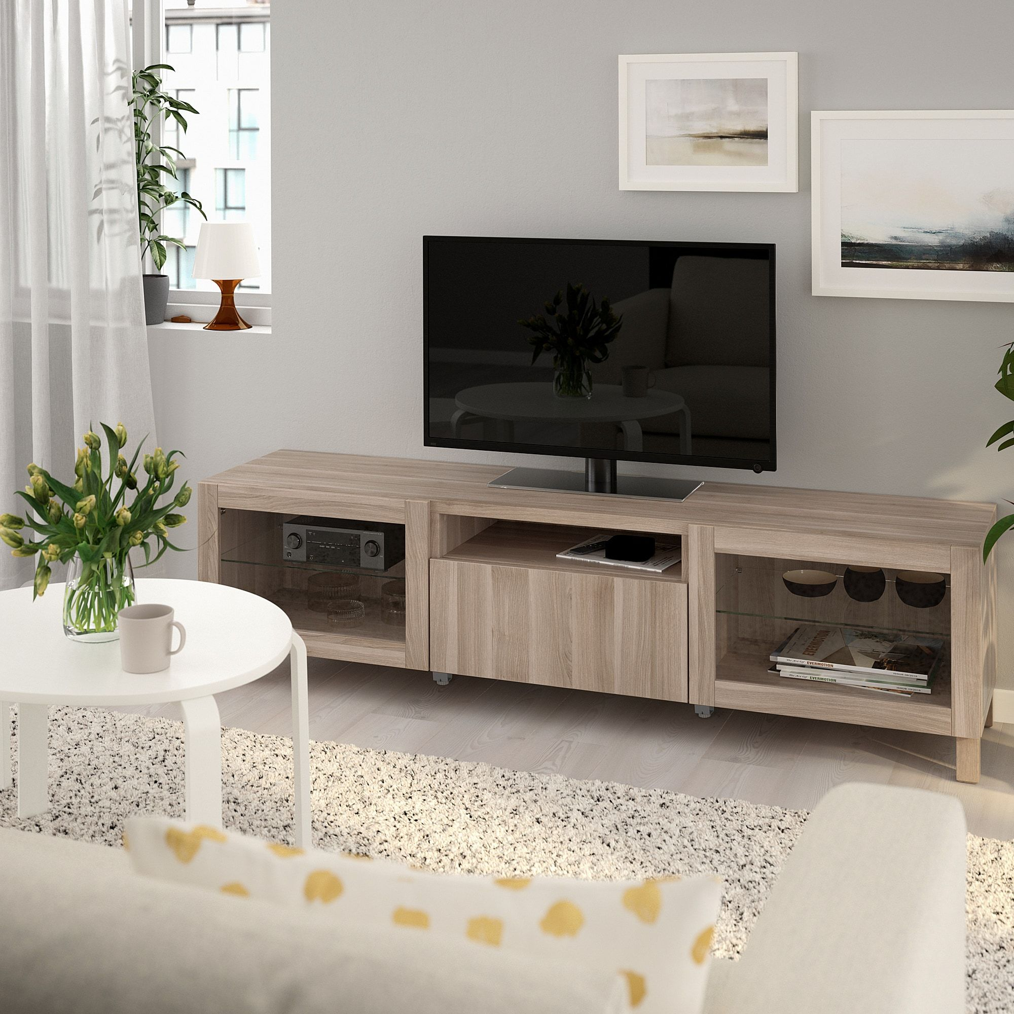 Us Furniture And Home Furnishings Tv Unit Tv Bench Glass Tv Unit