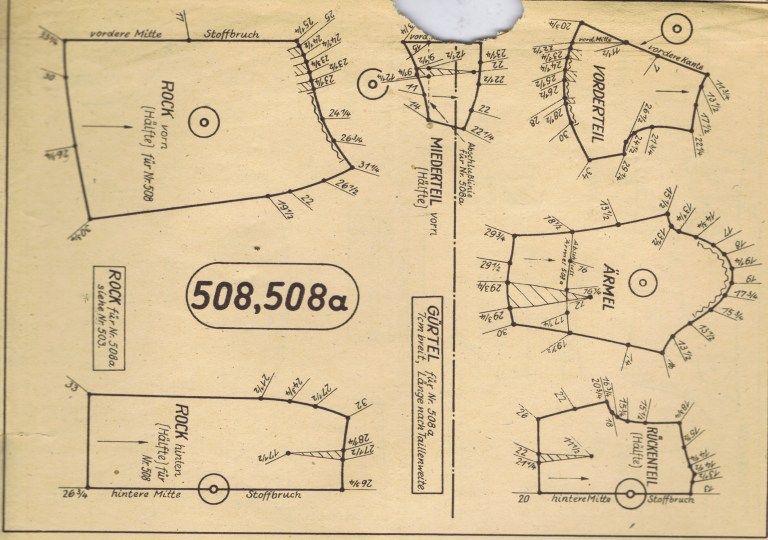 FREE Vintage 1940s Sewing Patterns German Die Alma Mode | Sewing ...