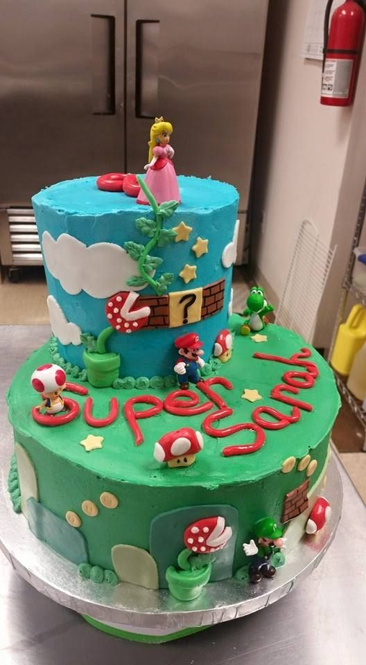 Super Mario Cake Fondant And Buttercream Simply Cupcakes And