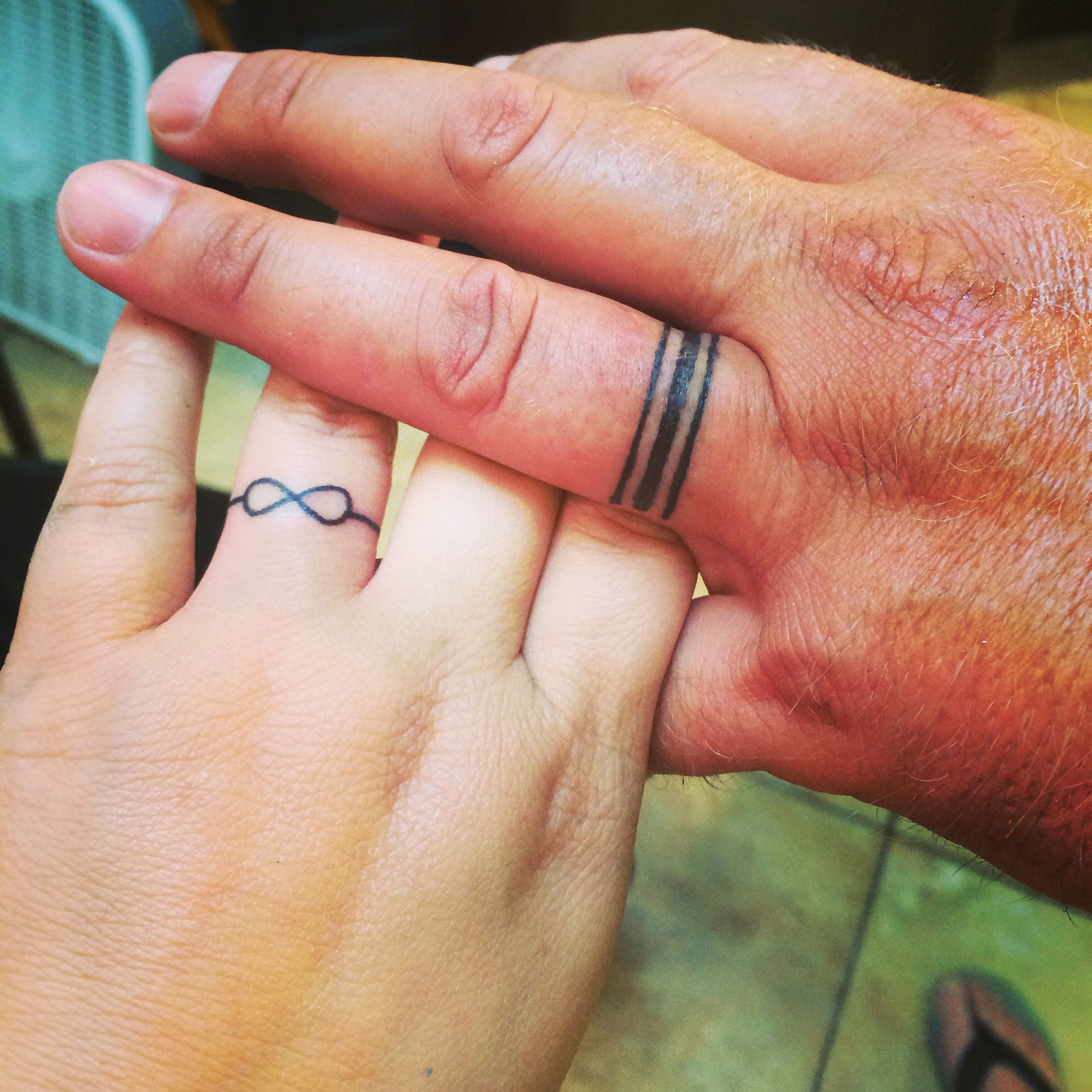 comments tattooed due a rings my wedding r get mildlyinteresting finger webbed ring to had