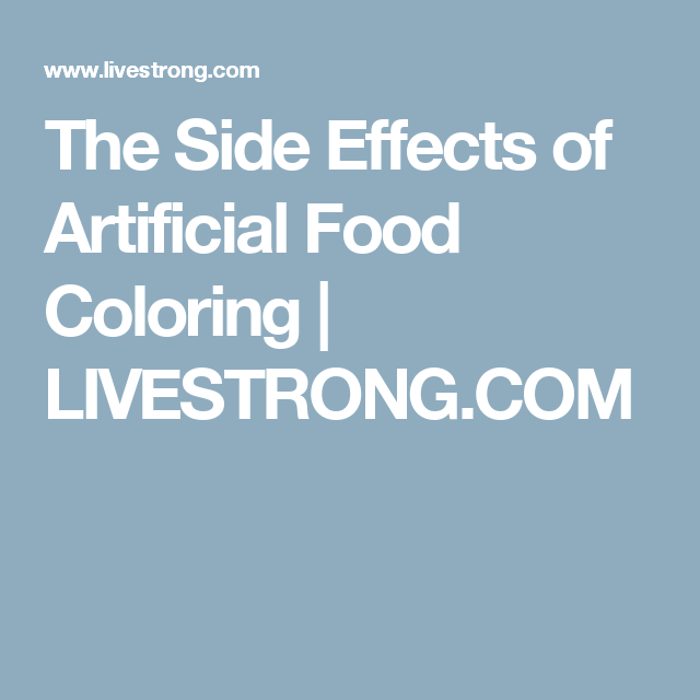 The Side Effects of Artificial Food Coloring | Food Politics ...