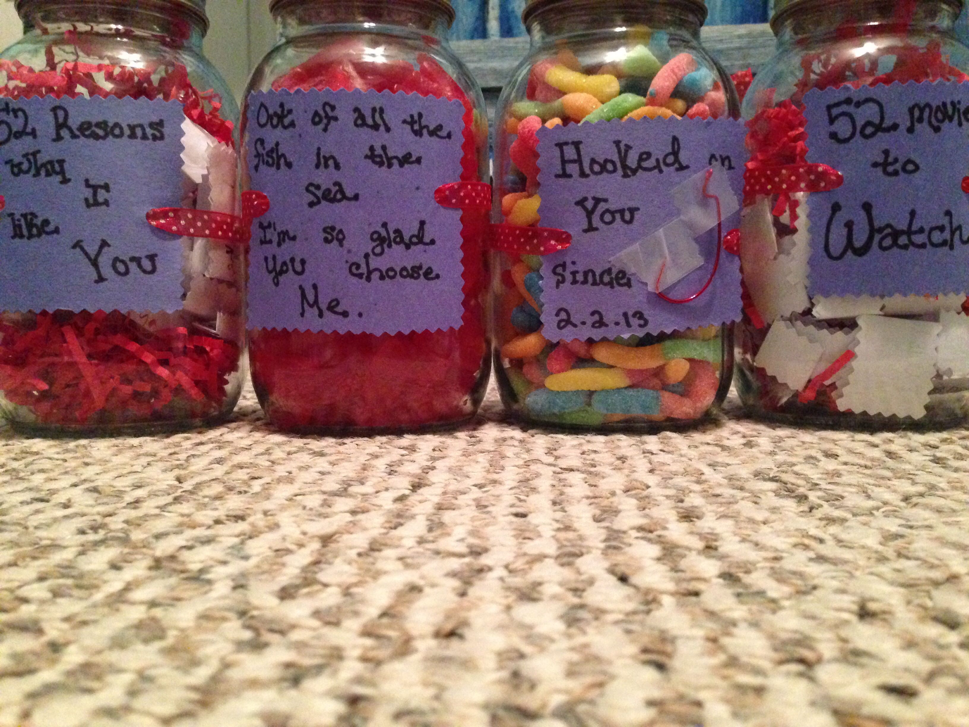 Easy to make DIY gift for valentines day, one year
