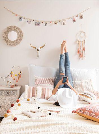 Chambre ado fille décoration ethnique colorée chambreado chambreadofille  miroirotin