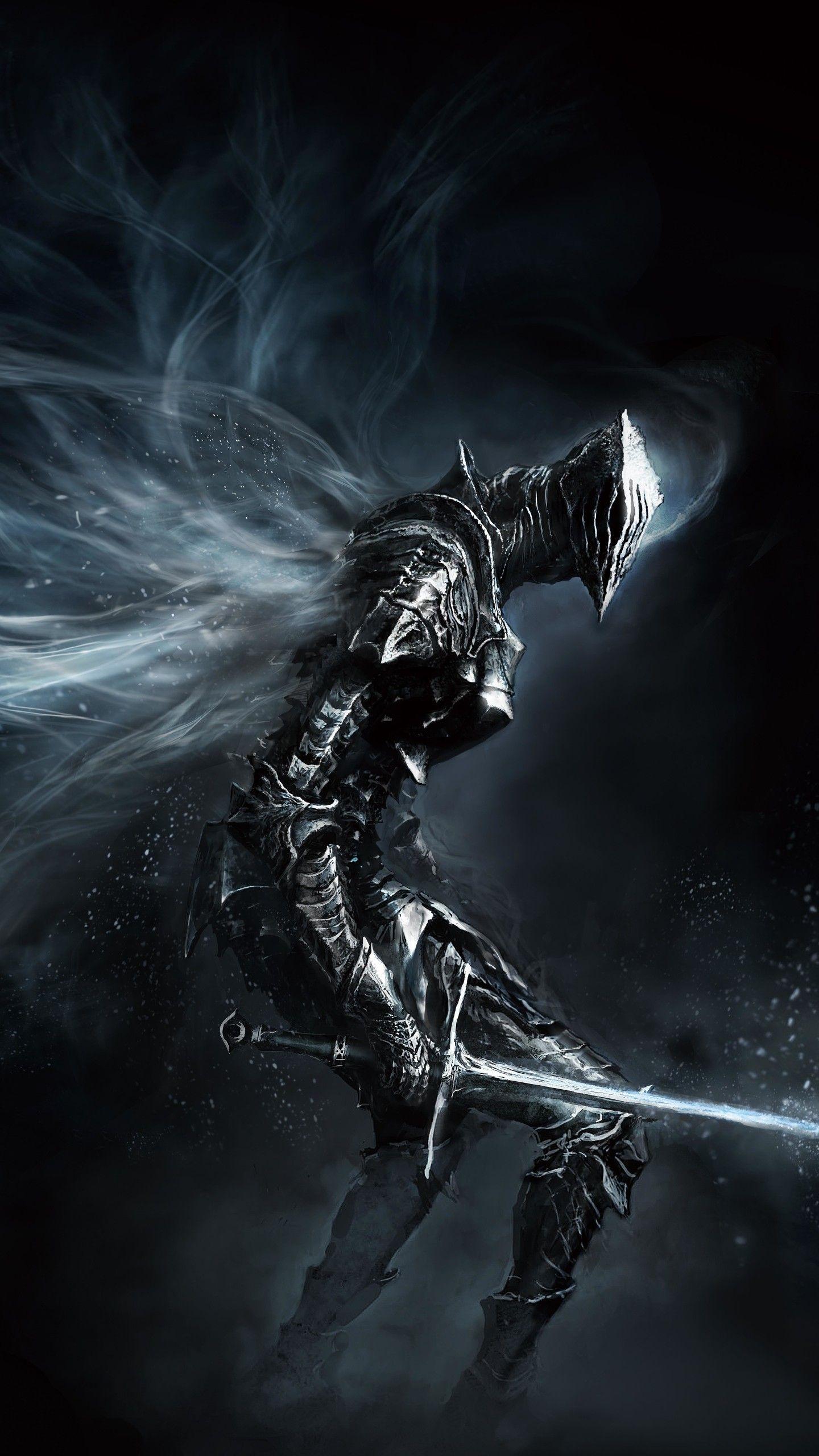 Phone Wallpaper Hd 547511 Dark Souls Knight Nebula