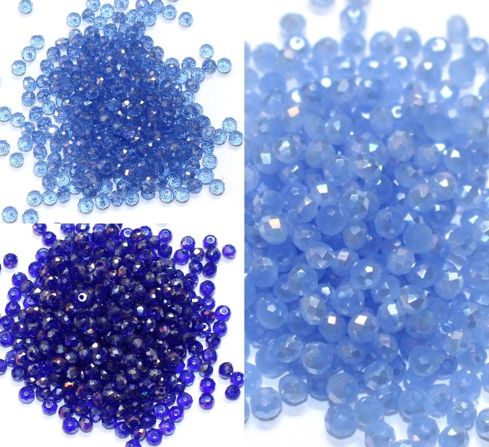 6d4ebf44d Bulk 3x2mm Crystal Rondelle Beads-Sapphire Jade-Deep Sapphire-Light  Sapphire-20, 50 or 100 pieces-Supplies |AC-R3-AB-002-140-006 by  AndreasTreasureTrove on ...
