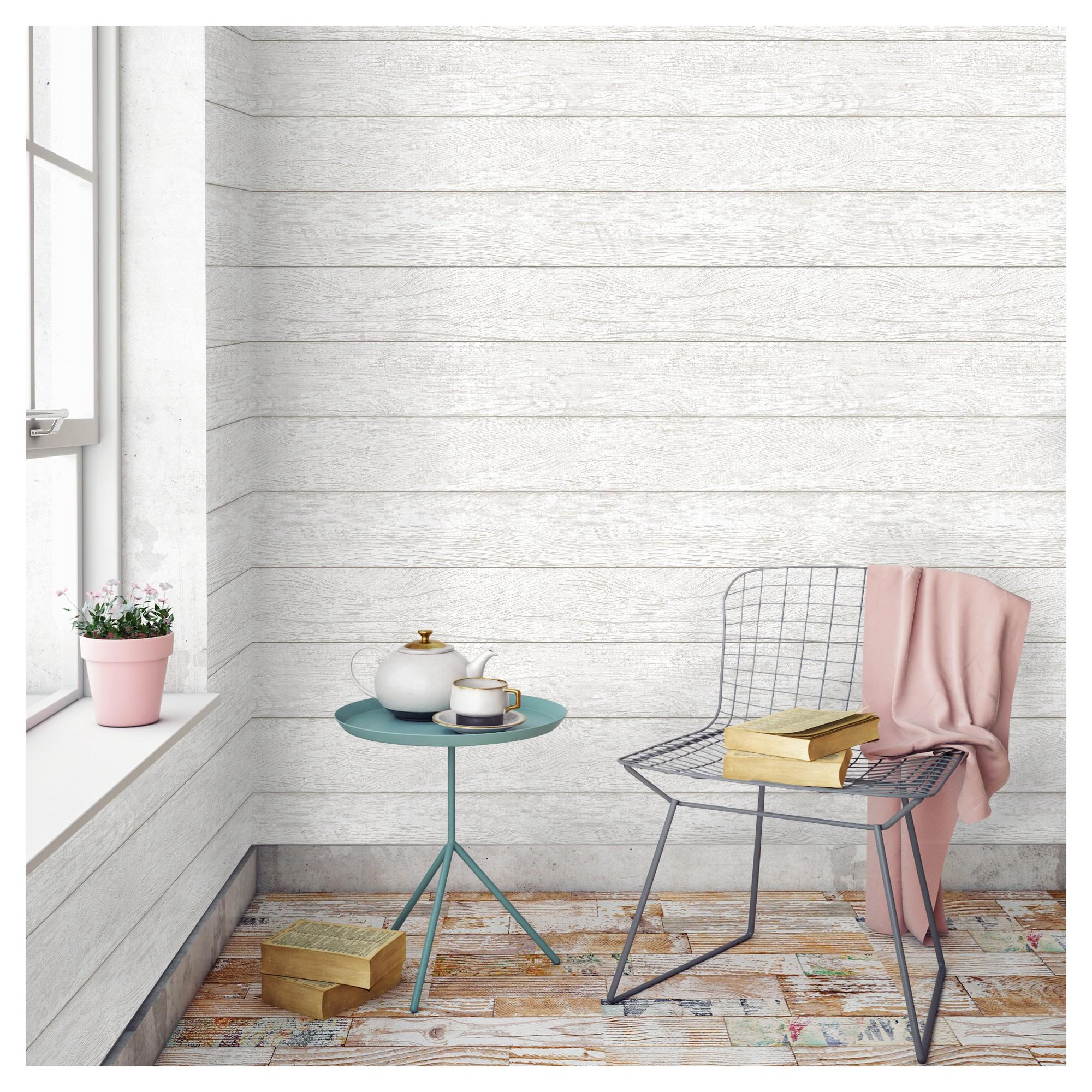 Devine Color Textured Shiplap Peel & Stick Wallpaper