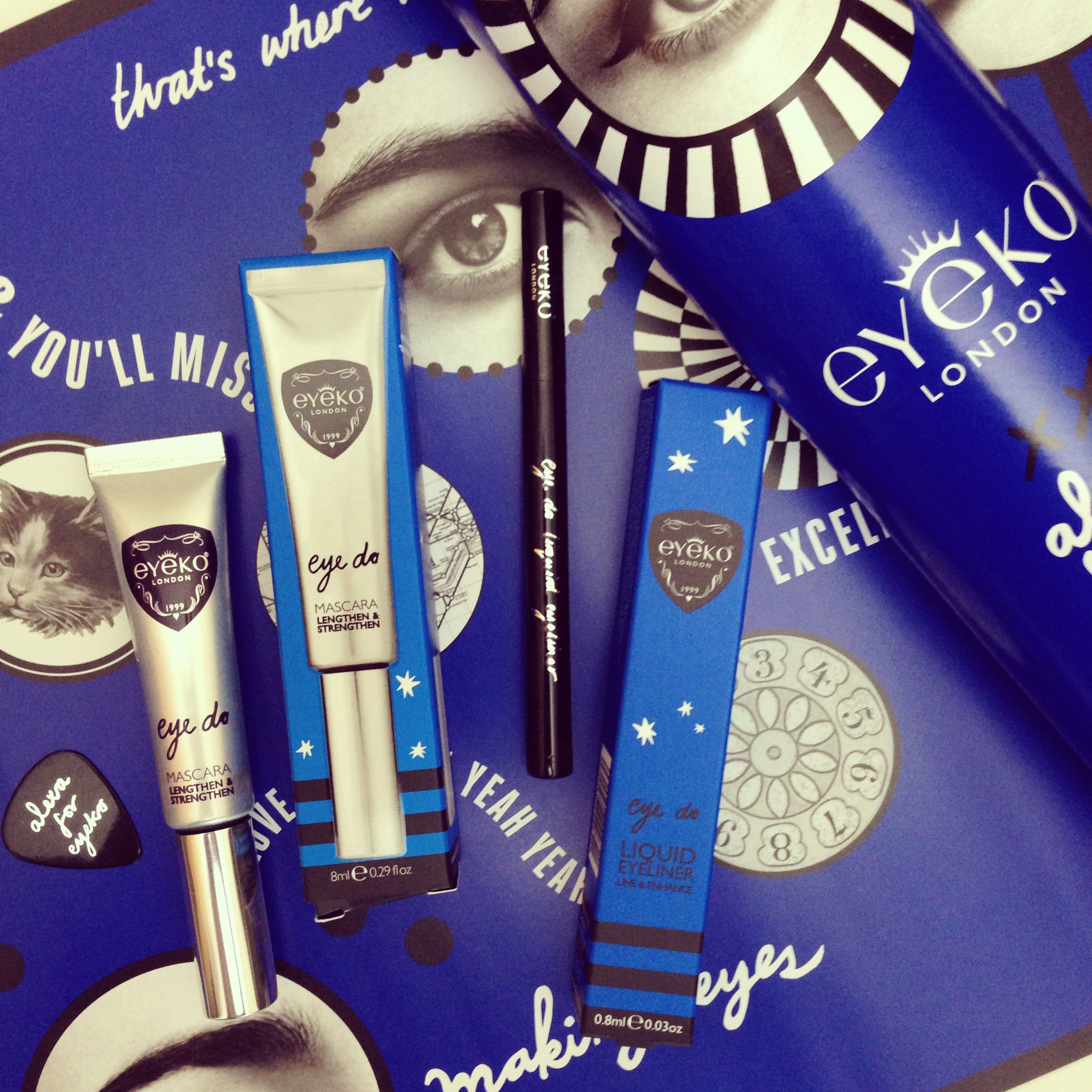 Alexa Chung for Eyeko, coming to you in some pretty elaborate packaging.