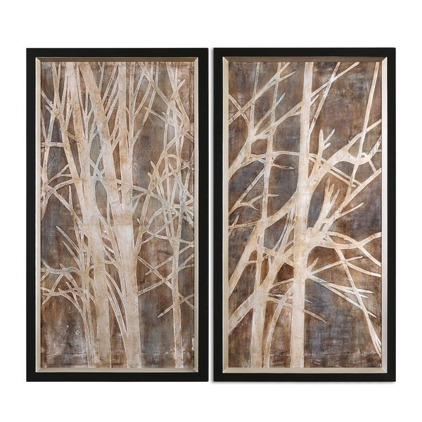 Uttermost Grace Feyock \'Twigs\' Hand Painted Oil Wall Art (Set of 2 ...