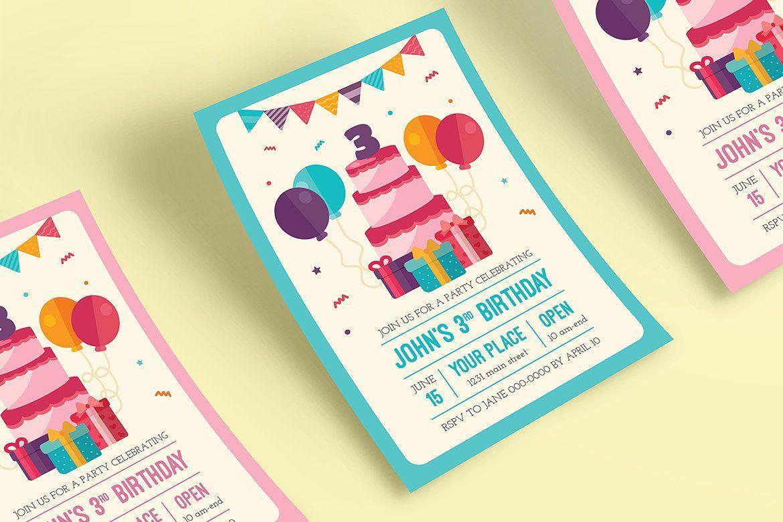 Colorful Birthday Invitation   Colorful birthday and Birthdays