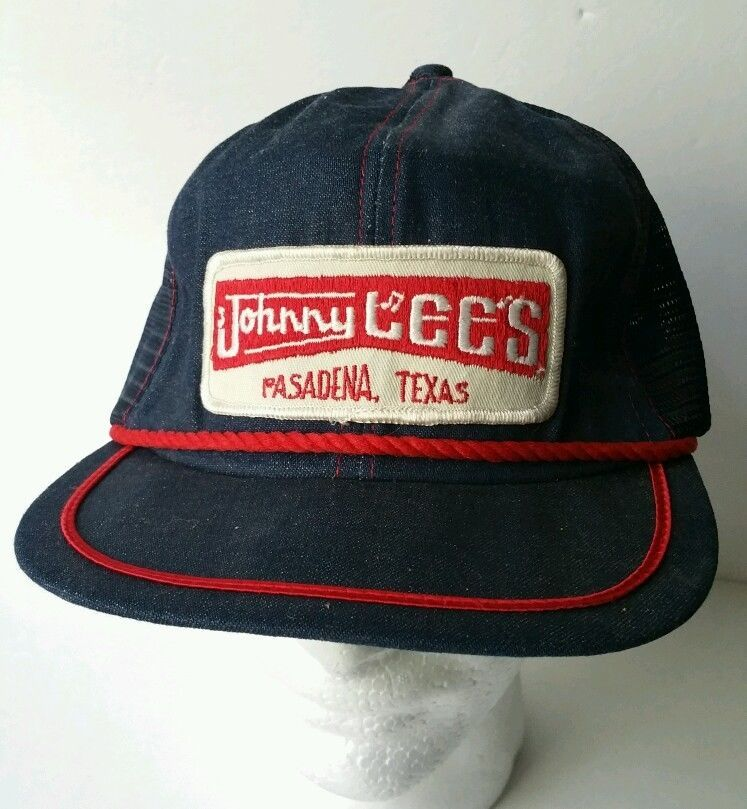 2bec1dffc19 ... official photos ec3bf d67fc Denim hat Urban Cowboy cap Gilleys Johnny  Lees Snapback Mesh Trucker Vintage ...