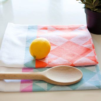 Woven Tea Towels // Papercookie