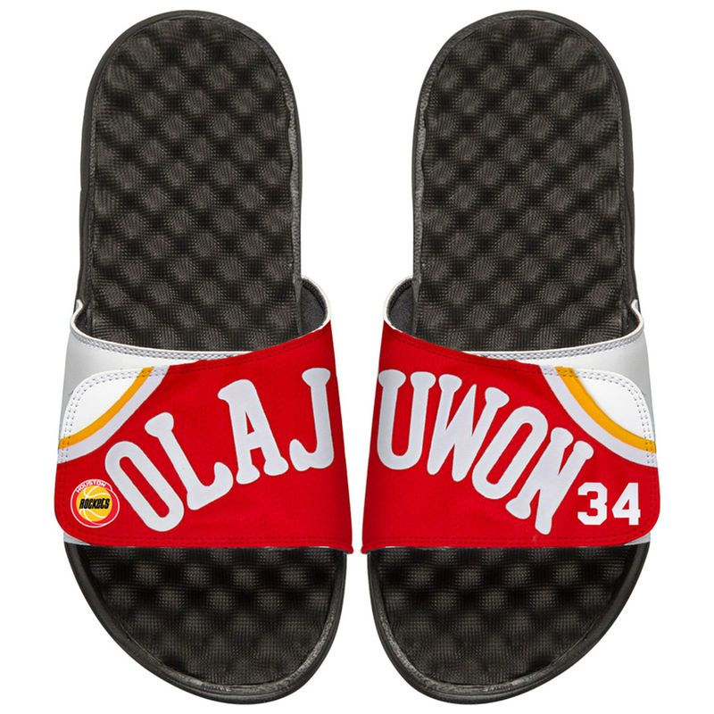 993b4d93f Hakeem Olajuwon Houston Rockets ISlide Youth Retro Jersey Slide Sandals