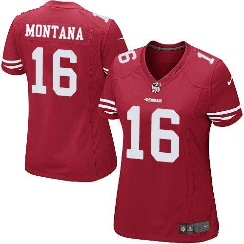 $79.99 Limited Women's Nike San Francisco 49ers #16 Joe Montana ...