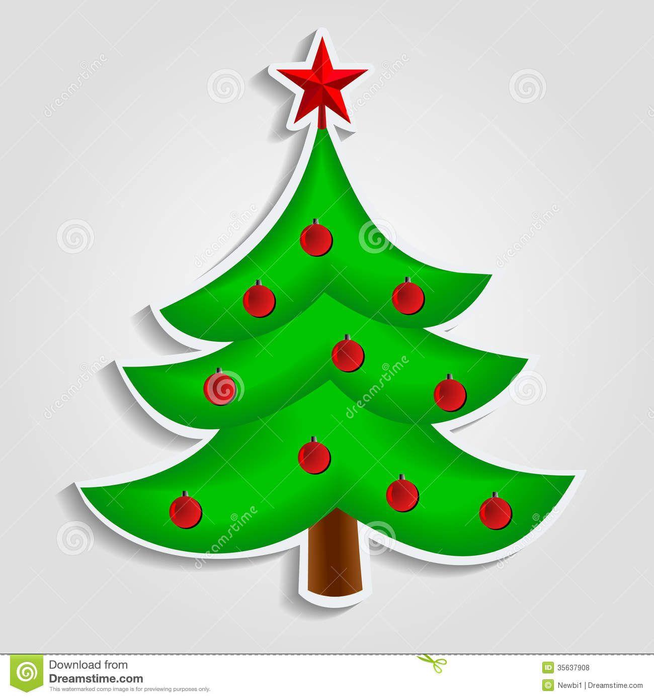 Flat Christmas Tree Design Stock Photos - Image: 33416933