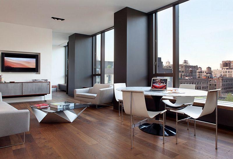 Minimalist Dining Room Ideas Designs Photos Inspirations Minimalist Dining Room Condominium Interior Minimal Living Room Modern new york living room