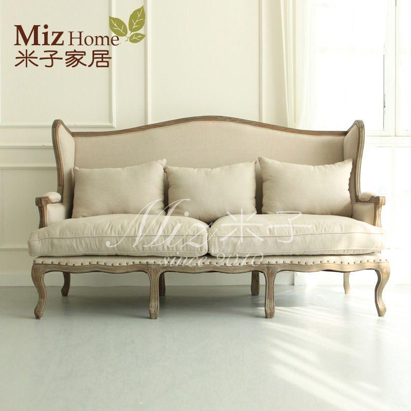 Cheap De alto grado salón roble sofá sofá muebles silla de lino Sofá ...
