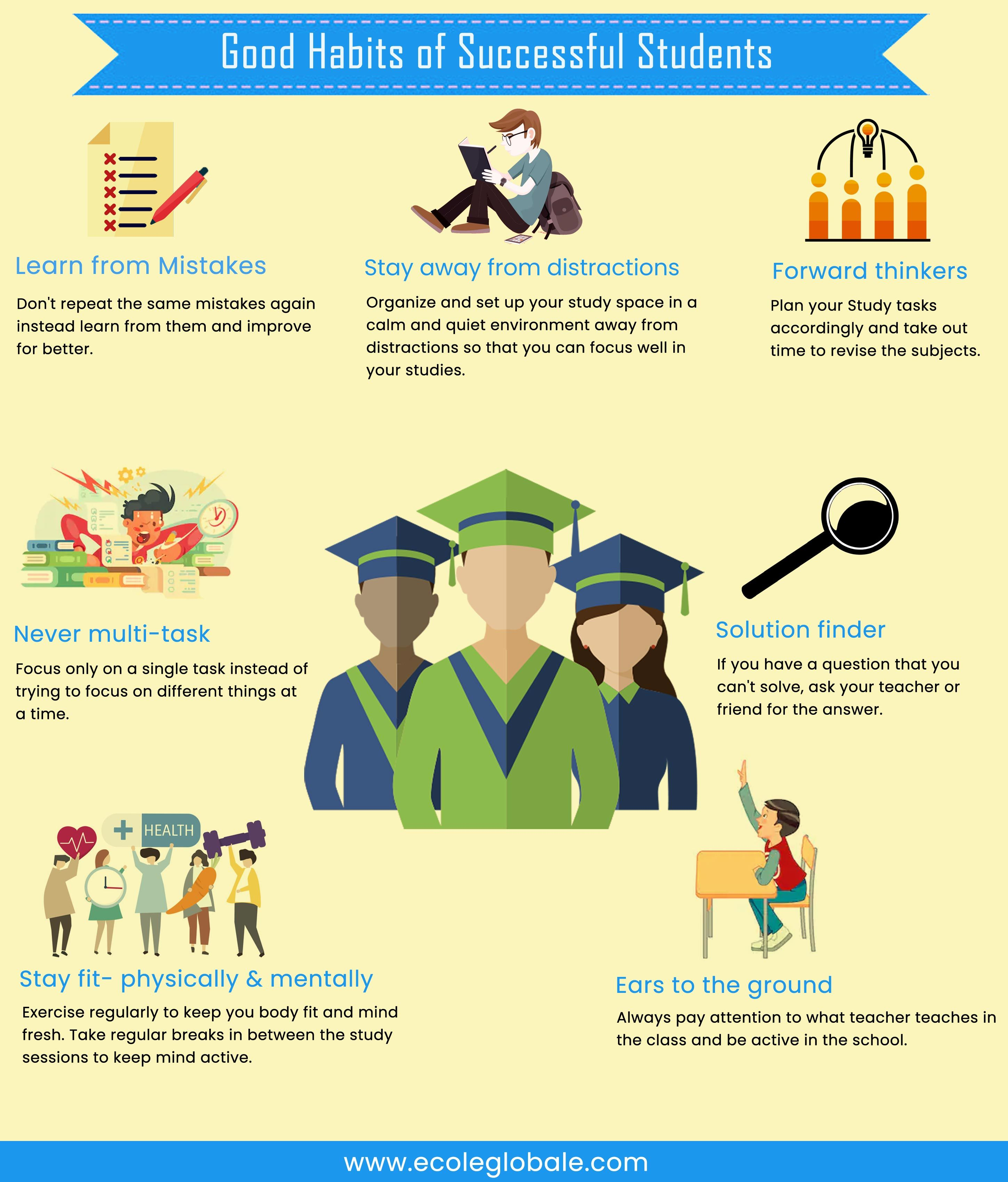 Must Know The Good Habits Of A Successful Students