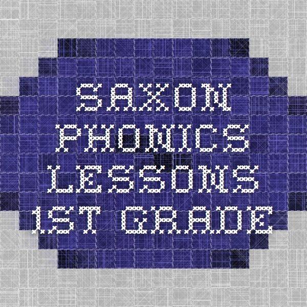 Saxon Phonics Lessons 1st Grade Word Work Saxon