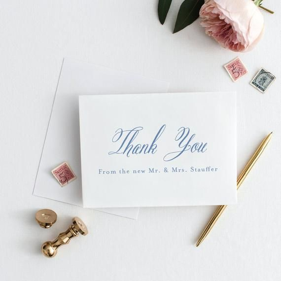 Wedding Thank You Cards | Christina Wedding Collection | Thank You From the Newlyweds | Newlywed Tha #businessthankyoucards