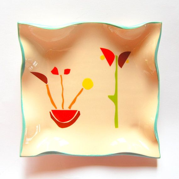 Ceramic plate Colorful plate Wall hanging by TreasureCraftsBox | 03 ...
