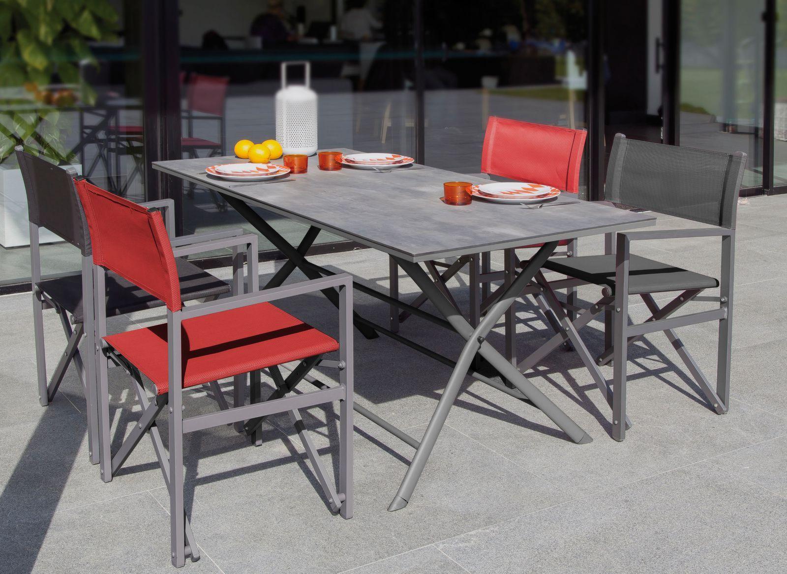 Table Azuro 160x78 cm, Plateau Arpa - table de jardin - mobilier de ...