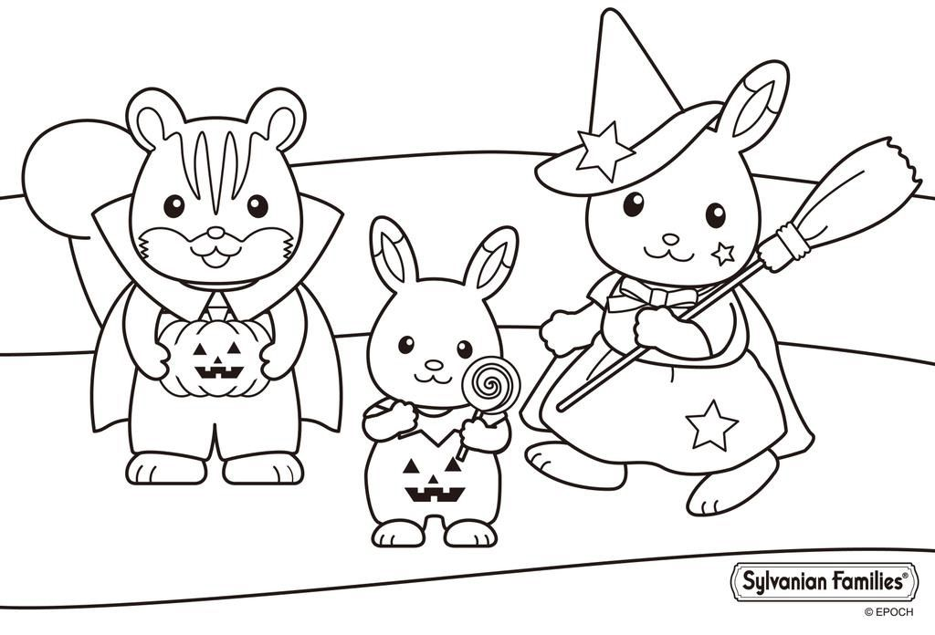 Sylvanian Families Colouring Pages Coloring