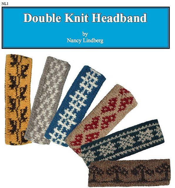 NL1 Double Knit Headband pattern by Nancy Lindberg | Knit headband ...