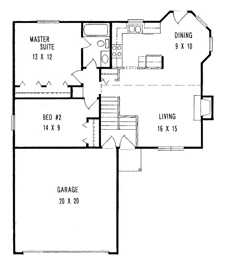 Floor Plans For Small Houses 25 best ideas about small house plans on pinterest small home plans small house floor plans and retirement house plans Bedroom Designs Small Minimalist Two Bedroom House Plans With Large Garage Floor Plan Design