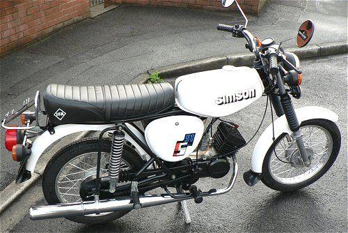 simson s51 white my 1st motorbike bike bicycles. Black Bedroom Furniture Sets. Home Design Ideas