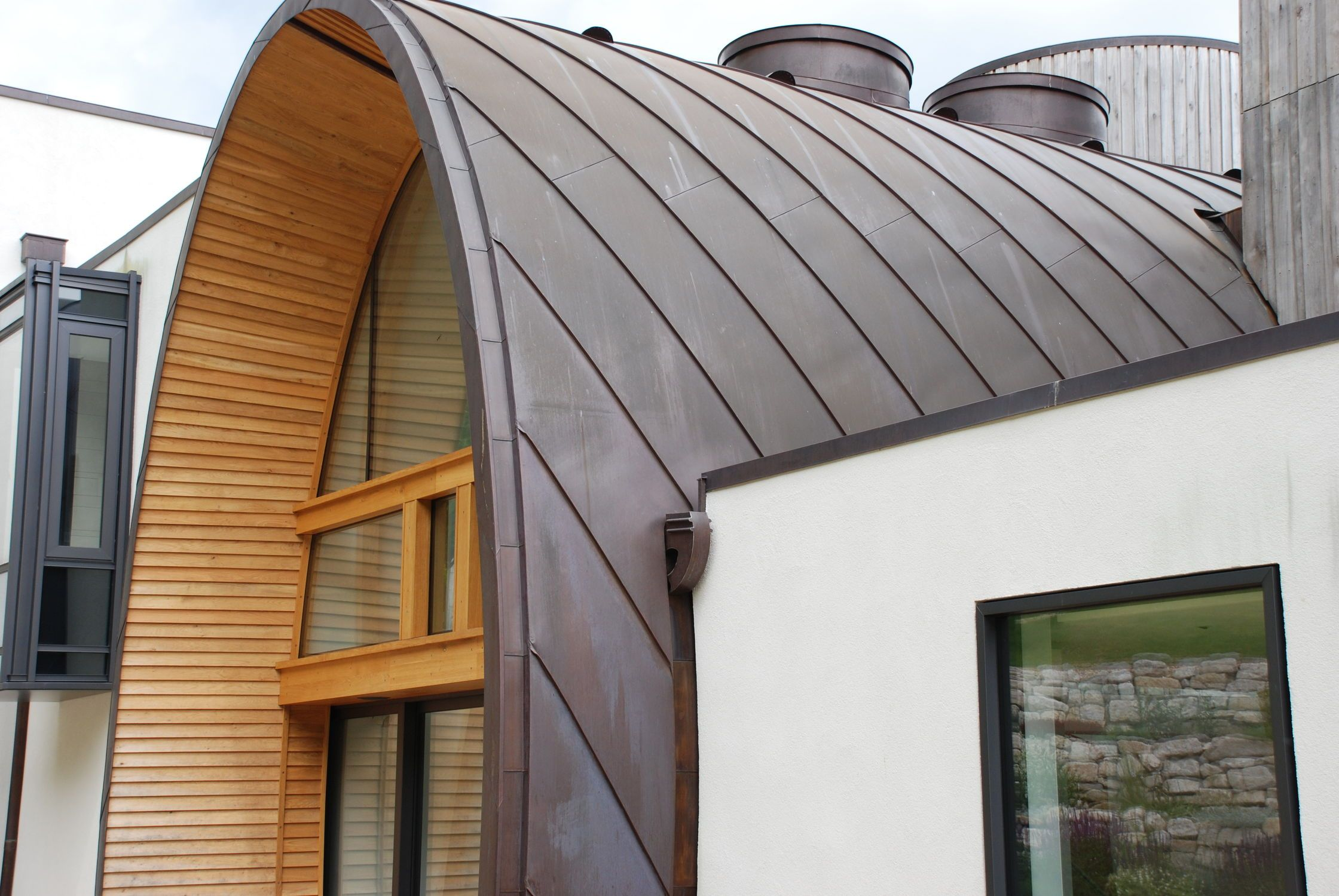 Zinc Roofing Upright Joint Downley House Peters Roofing Zinc Roof Copper Roof Roofing