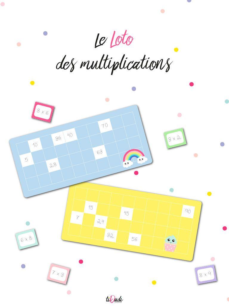 Le Loto Des Multiplications Un Jeu De Tables De Multiplication