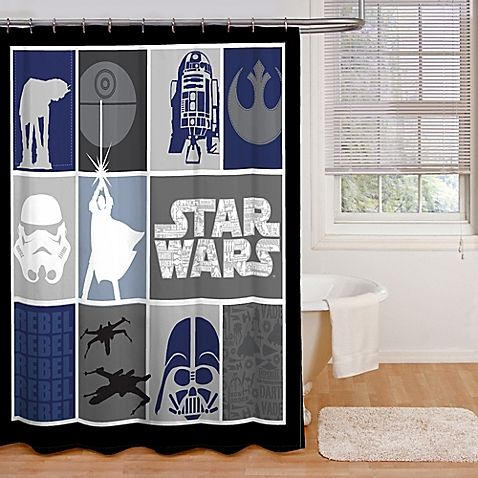 The Force Is Strong With This Stylish Star Wars Shower Curtain