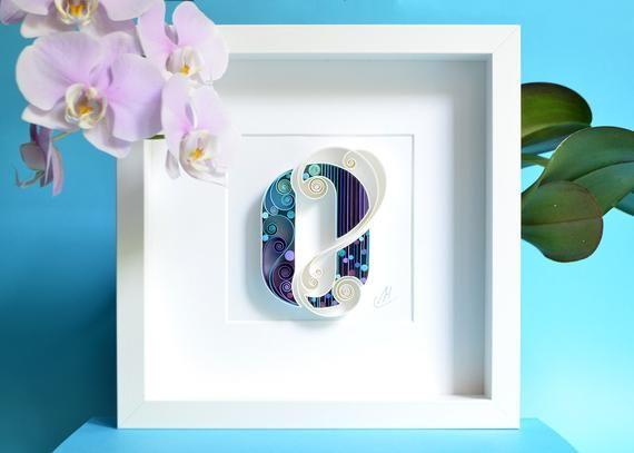 Letter O Quilling Wall Paper Art Custom Framed Monogram Etsy In 2020 Paper Art Paper Wall Art Wall Art Gift