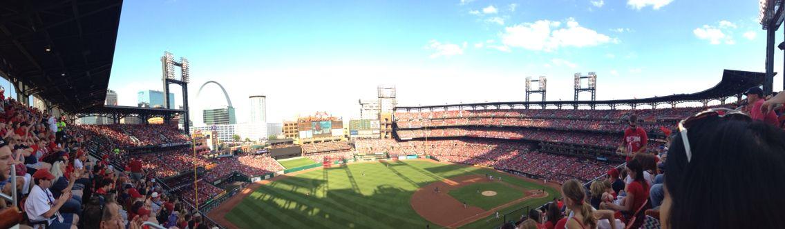 Beautiful panoramic of the cardinals stadium!! Such a fun day!