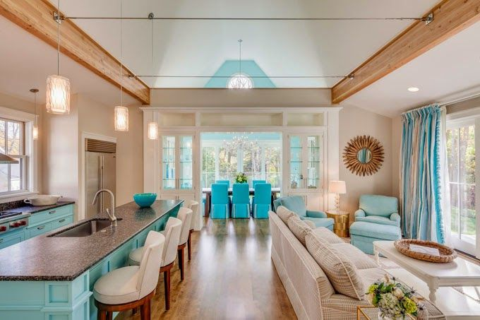 Phi Home Designs Kitchen Layout With Siiting Area And Dining   One Long  Hawaiin Style Great