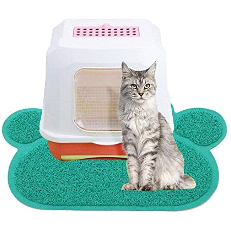 Aolvo Cat Litter Mat, BPA Free Premium Kitty Litter Mat
