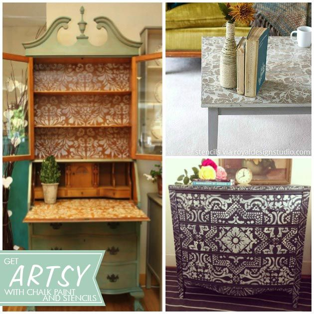 Cool painted and stenciled furniture projects with Chalk Paint