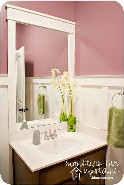 board and batten bathroom mirror frame diy