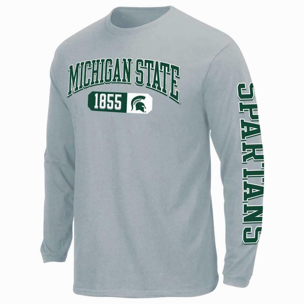 Michigan State Spartans Men's CrewNeck Long Sleeve Tee