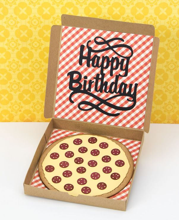 Pizza Box Birthday Card Boxed Birthday Cards Happy Birthday Cards Birthday Cards