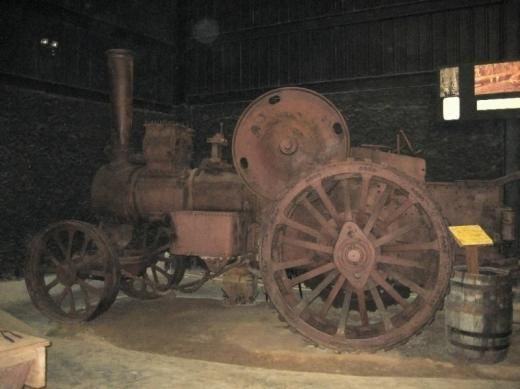 Old Belize A giant old steam tractor used to pull mahogany logs to ...