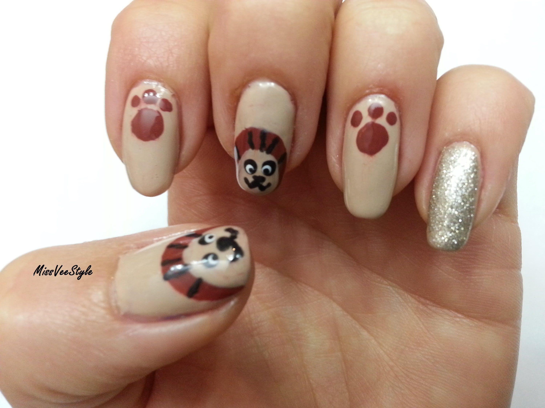 Enchanting Lion Nail Designs Ornament - Nail Art Design Ideas ...